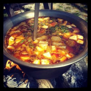 Cauldron goulash from Hungary