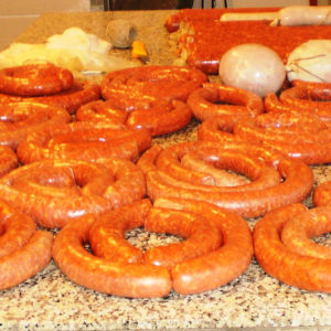 Hungarian fresh sausages