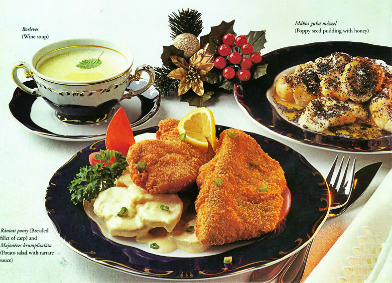 Traditional English Christmas Dinner.Traditional Hungarian Christmas Dinner Is A Hearty Menu