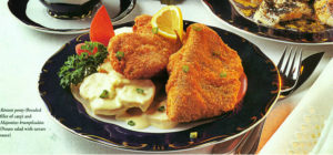 breaded fillet of carp with potato salad