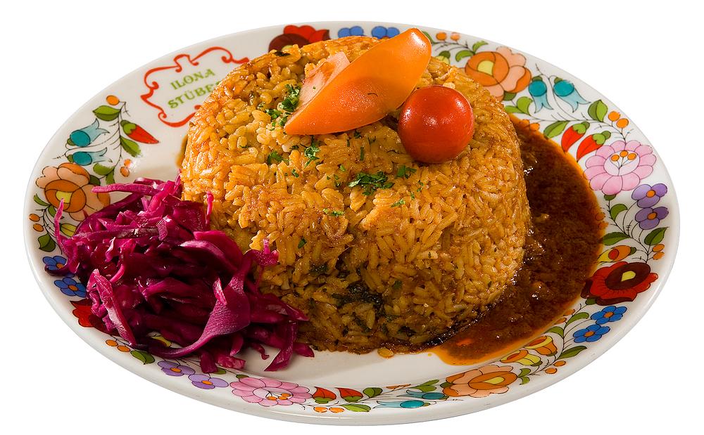 Pörkölt with Rice a'la Bácska