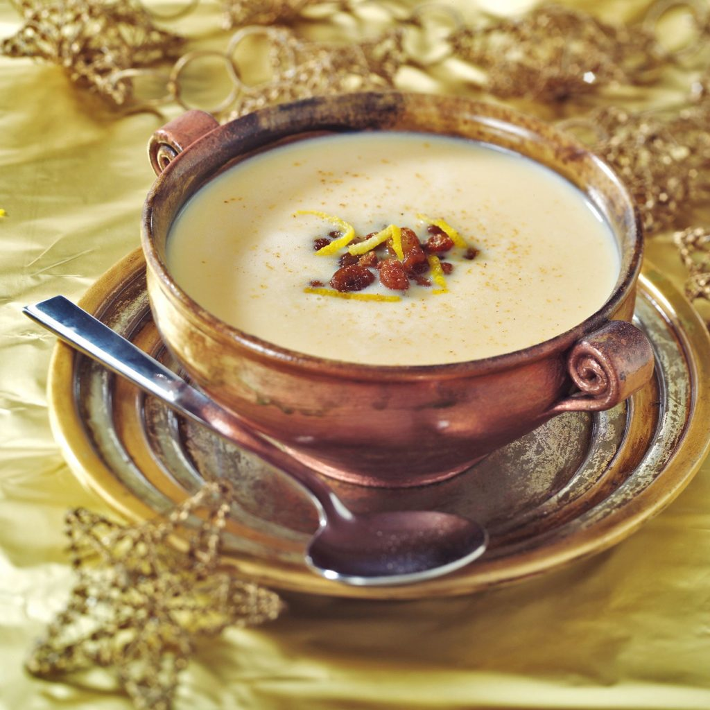 Christmas wine soup