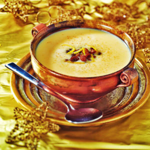Christmas wine soup in Hungary